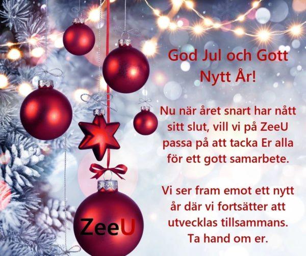 ZeeU önskar God Jul & Gott Nytt År!